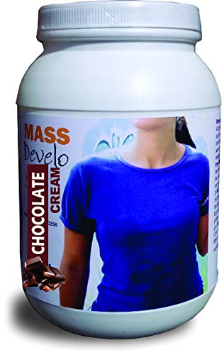 Develo weight & mass gainer protein for women & girls health gain, powder – 1kg (Chocolate) 2021 August Specially formulated for women/girls.as per RDA guidelines ICMR 2010. Extra 500 calories/day to help you gain upto one pound/week. use as directed on the label.
