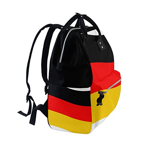 fe85f32f8cb0 Amazon.com  DEZIRO Canvas Unique German Flag School Pack Backpacks Travel  Bag  Computers   Accessories