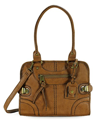 Scarleton Large Satchel H106804 - Brown