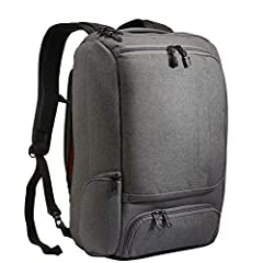 Head off to work or school with your laptop and other must-haves packed safely and stylishly inside this slim backpack. The eBags Professional Slim Laptop Backpack is made from twisted poly fabric and features a streamlined shape and a sophis...