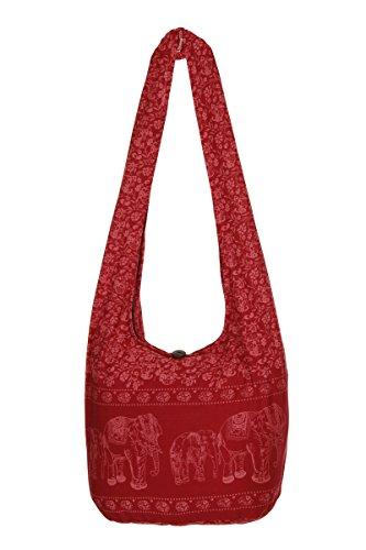 nbsp;– algodón nbsp;playa Wine hippy de viaje bolsa de Gypsy elefante bolso bolsa diseño mano Sling nbsp;– nbsp;100 hombro Boho Thai de qZxw60ptn