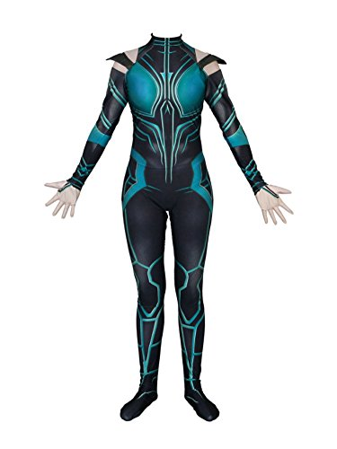 idea cosplay Womens Halloween Suit Hela Cosplay Costume Bodysuits (S (height 61 In), (Jumpsuit Halloween Costume Ideas)