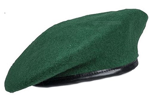 BERET VERT 100 % PURE LAINE TAILLE 57