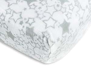 SwaddleDesigns Cotton Muslin Crib Sheet, Sterling Starshine
