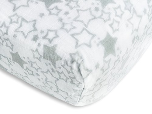 SwaddleDesigns Cotton Muslin Sterling Starshine product image