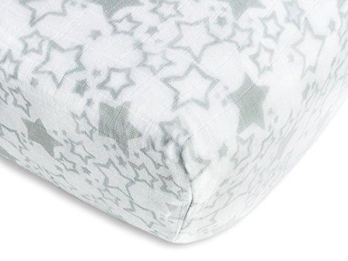 SwaddleDesigns Cotton Muslin Sterling Starshine