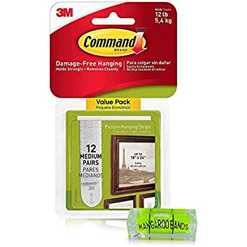 Command Picture Hanging Kit| 3m Damage-Free Strips & Leveler| 12-Pair | Perfect for Hanging Small & Medium Frames, Photos, Pictures on Walls/Drywalls & More| No Nail/Hook Damage (1)...