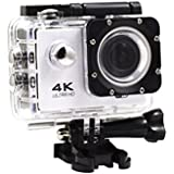 Creazy 2018 Waterproof 4K Wifi HD 1080P Ultra Sports Action Camera DVR Cam Camcorder (White)