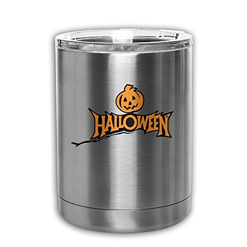 Double Walled Stainless Steel Tumbler, Vacuum Insulated Logo-halloween-commerce Thermo Cup - For Home, Office, School – For Ice Drink & Hot Beverage - Perfect Gift (Halloween Drink Labels Printables)