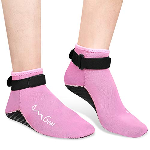Water Socks Neoprene Socks Beach Booties Shoes 3mm Glued Blind Stitched Anti-Slip Wetsuit Boots Fin Swim Socks for Water Sports Outdoor Activities Home Slippers ()