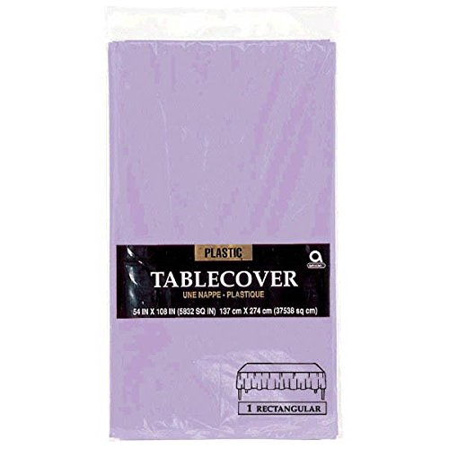 amscan Lavender Rectangular Plastic Table Cover | Party -