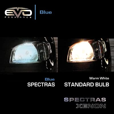 EVO Formance 93353 Spectras Xenon 75/65W=100/90W Blue H4 Halogen Bulb - Pack of 2: Automotive