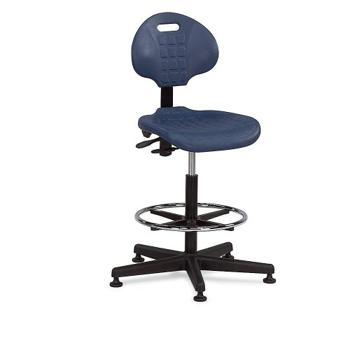 Bevco Polyurethane Seating - Stool - 22-32'' Seat Height - Deluxe Style - Floor Glides - Gray - Gray by Bevco