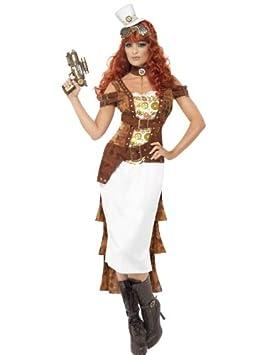 Générique Disfraz Agente Sheriff Mujer Steampunk: Amazon.es ...