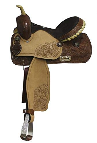 Double T Western Leather Barrel Racing Saddle 15