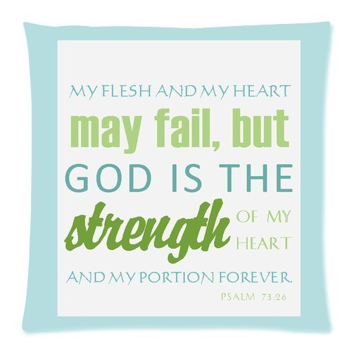 Bible Verse Comfortable Pillow Case 18×18 (Twin sides)
