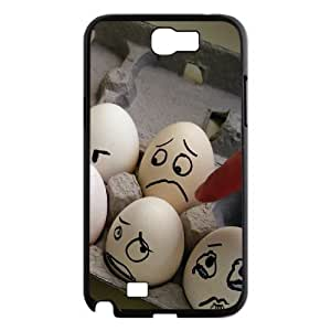 Samsung Galaxy Note 2 Case, Scared Eggs Case for Samsung Galaxy Note 2 {Black}