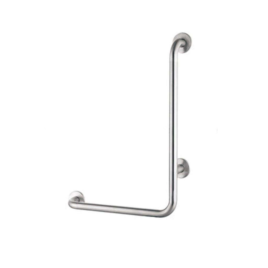 JYJgrab bar JYJ-Shower L-Shaped Stainless Steel Shower Grab Bar Old Bathroom Anti-Skid Support Rail Pregnant Women Support Armrest 70X50cm (Size: Left L) (Size : Right)