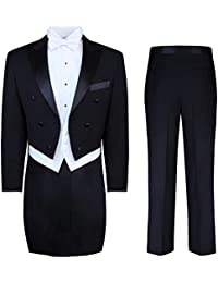 Men's Tuxedo Tails - Tailcoat and Trousers Available in Black or White