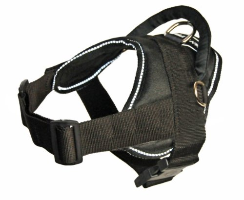 DT All Weather Dog Harness with Reflective Trim, Black, XX-Small – Fits Girth Size: 18-Inch to 22-Inch, My Pet Supplies
