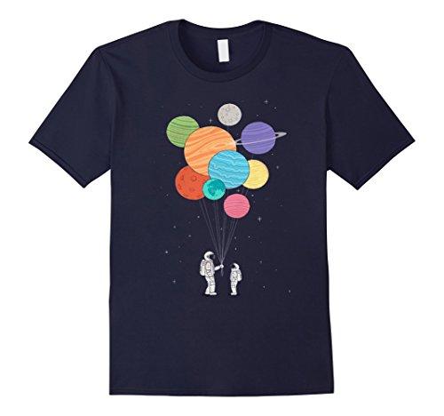 Mens Planet Balloons T-Shirt Medium