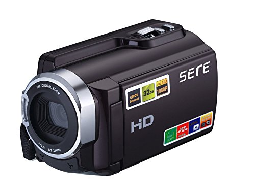 SEREE FHD 1080P Camcorders WIFI Connection 60FPS Dual SD Slot Night Vision External Battery 20MP 16X Digital Zoom...