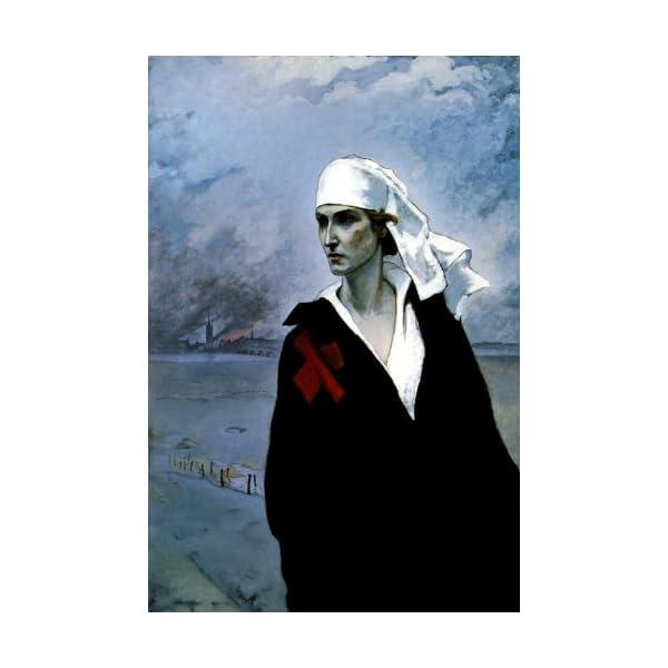 WONDERFULITEMS THE CROSS OF FRANCE 1914 WORLD WAR I NURSE BY ROMAINE BROOKS 12″...