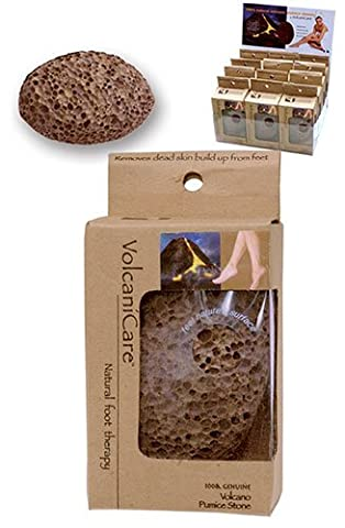 VolcaniCare Natural foot therapy....100% Genuine Volcano Pumice Stone...Remove dry cracked skin from heels of feet & rough spots on elbows & - Genuine Rough