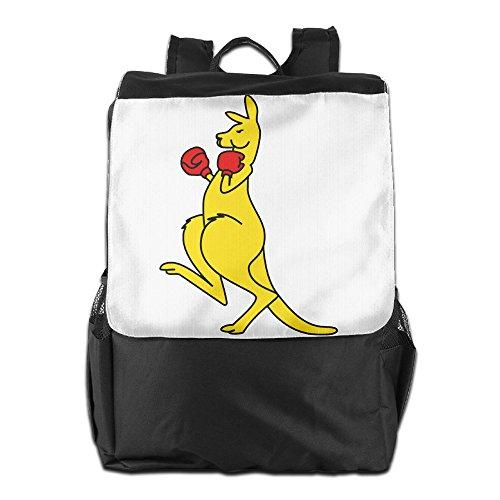 Chun Li Costume Accessories (Benpo Boxing Kangaroo Outdoor Backpack Lightweight Fashion Travel Bag Casual Large Shoulder Book Bags One Size)