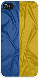 Rikki KnightTM Ukraine Flag Design iPhone 5 & iPhone 5s Case Cover (White Rubber with bumper protection) for Apple iPhone 5 by lolosakes