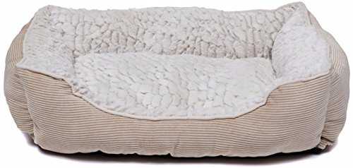 Creative Pet Group Cpg4001l Large Dog Bed Beige Beige Hairy Plush  30 X 24