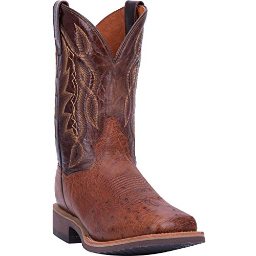 Men's Dan Post Philsgood 2 Ostrich Boots Handcrafted Brown ()