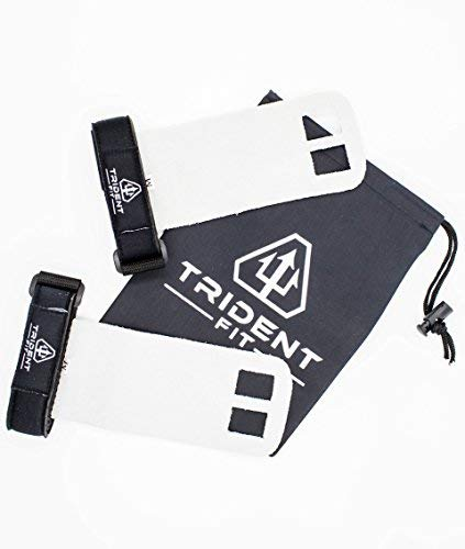 Trident Genuine Leather Hand Grips for Weightlifting Crossfit and More