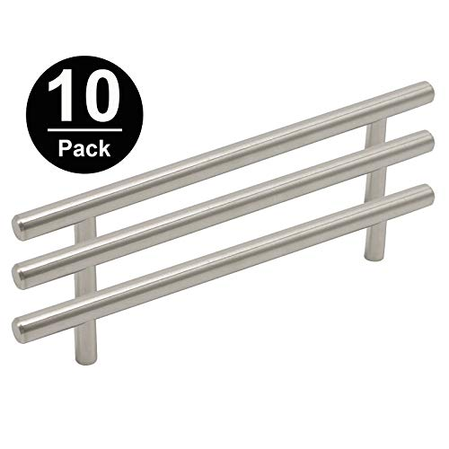 Gobrico GB201HSS160 Pack of 10 Kitchen Cabinet T Bar Handle 160mm Hole Center Furniture Drawer Pull