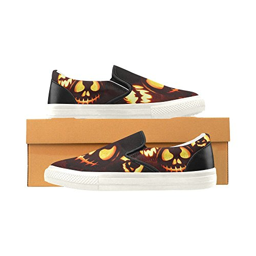 On Womens Sneaker D Slip Pumpkin Canvas Fashion Halloween4 Custom Shoes Story Halloween Happy XaAq0HwA