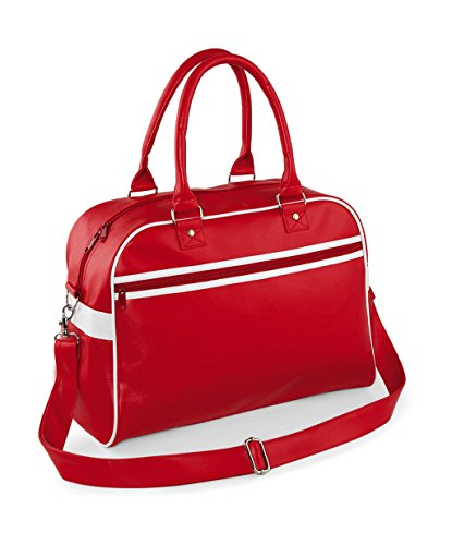 BagBase Retro Classic Bag Original Red Bowling White v0wvx