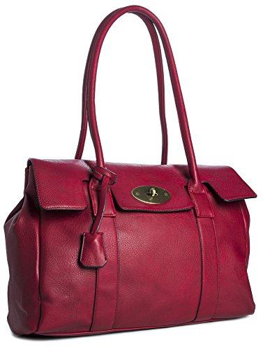 Rouge Main Haut Célébrité Manipuler Boutique Inspiré Designer LxHxP rouge Mode BHBS cm Femmes épaule Branché 38x28x12 wxg4a0nqFv