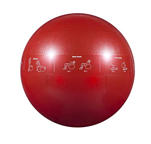 - GoFit ProBall Stability Ball for Yoga, Fitness, Balance, Exercise Ball, Red 65cm