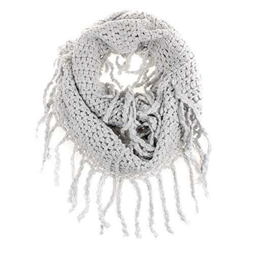 EUBUY Fashionable Autumn Winter Kids Toddler Knit Warmer Tassels Neck Scarf Circle Loop Round Scarves Shawl(Gray)