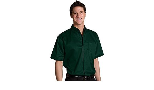 Edwards Garment Mens Big And Tall Short Sleeve Button Down Shirt/_FOREST/_Medium