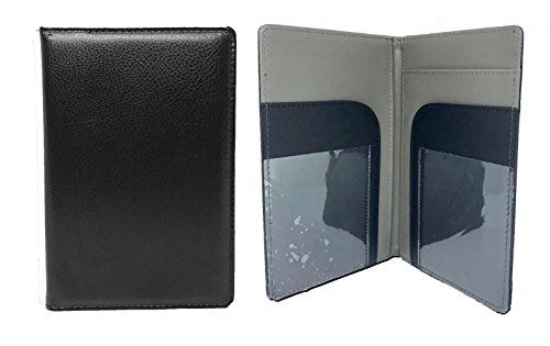 Server Book | Waitress Book Organizer | 8x5 Perfect Size | Black | 7 Pockets | Holds Guest Book Checks | Fits In Aprons
