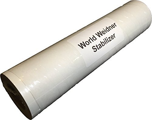 (World Weidner Tear Away Machine Embroidery Stabilizer Backing Medium Weight 1.8 Ounce 10 Inches by 10 Yards Roll)
