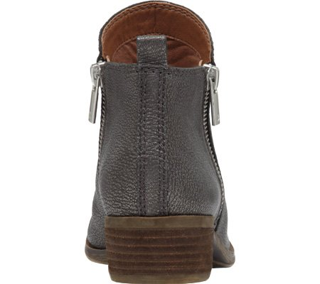 Boot Pewter Women's Leather Lucky Basel Brand wIt86qnxp5