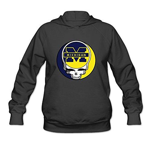 The Grateful Dead University Of Michigan Women's Hooded Sweatshirt (Skeeter Sweatshirt)