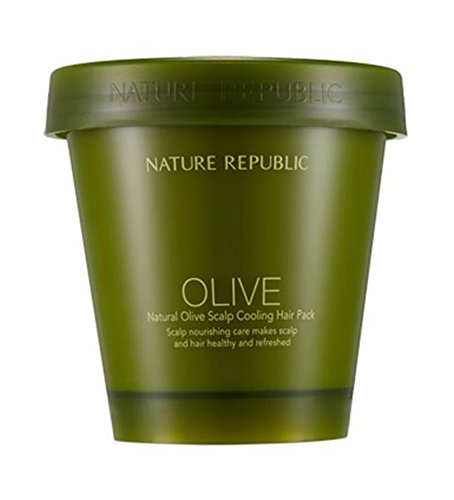Republic Olive - Nature Republic Natural Olive Scalp Cooling Hair pack 200ml