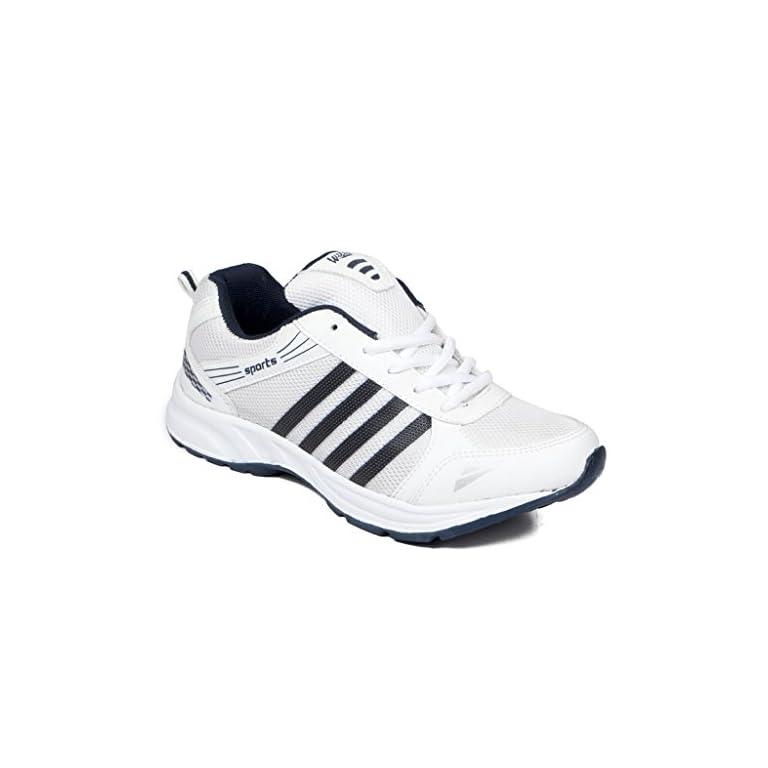 41KV6lrkWFL. SS768  - Asian shoes Men's Sports Shoe White Navy Blue Mesh 8 UK/Indian