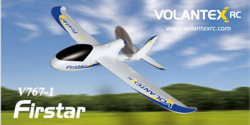 (Volantex RC 2.4Ghz 4-Channel Radio Control Electric Airplane Firstar Pro Glider RTF w/Brushless Set up + EPO Durability)