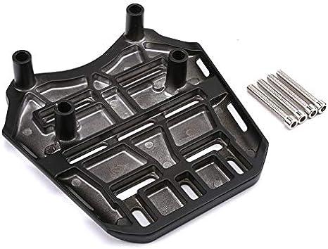 Gep/äcktr/äger f/ür Honda PCX 125 14-17. 1 PC CNC Aluminium Motorrad Gep/äcktr/äger hinten Farbe : Black Outbit Gep/äcktr/äger hinten Schwarzer Splitter und Titan