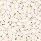 [18 Pounds] White Pebbles Aquarium Gravel River