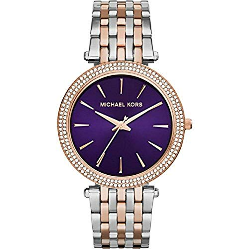 Michael Kors Women's Darci Watch, Silver/Rose/Amethyst, One Size (Cyber Monday Sales On Michael Kors Watches)